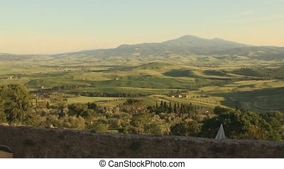 Sunset in Tuscany - Sunset in the province of Siena in...
