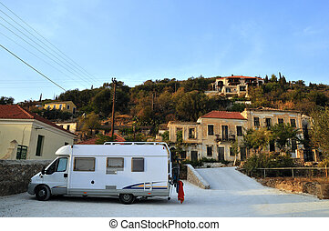 Mobile home in Greece - With the mobile home in Greece