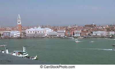 View on Saint Marks square in Venice from Isola San Giorgio