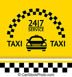 taxi, símbolo, coche, Plano de fondo