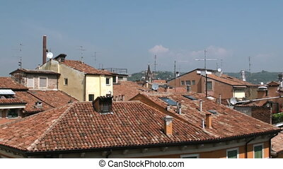 Rooftops of Verona - View on the city of Verona from inside...