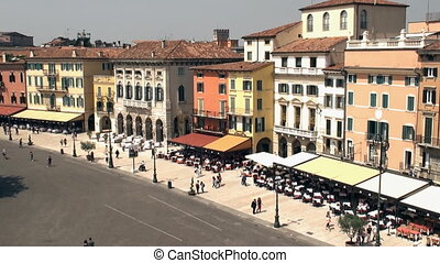 Piazza Bra, Verona - Piazza Bra as seen from the Arena di...
