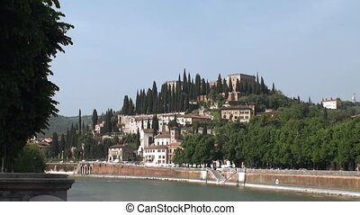 Verona, Italy - View on Verona accross the river Adige