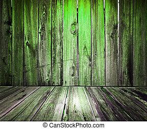 Green Wooden Floor Background