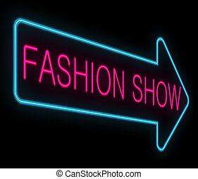 Fashion show concept - Illustration depicting a neon signage...