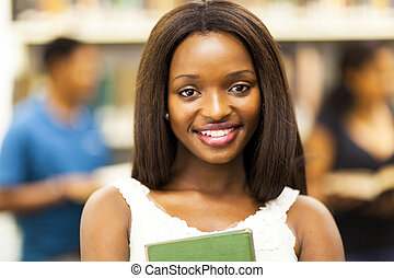 female african american college student - cute female...