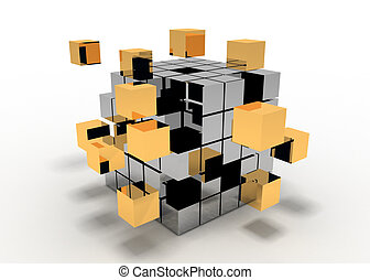 abstract cube
