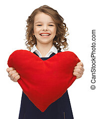 girl with big heart - picture of beautiful girl with big...
