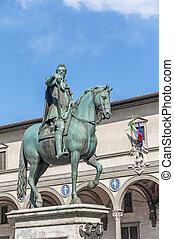 Statue of Ferdinando I de Medici in Florence, Italy - Statue...