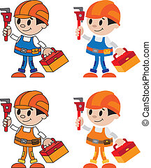 figures of plumber - illustration of a figures of plumber