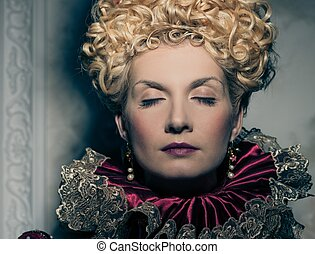 Portrait of beautiful haughty queen