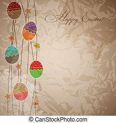 Easter card template vector illustration