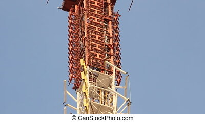 Telecommunication tower with antenn