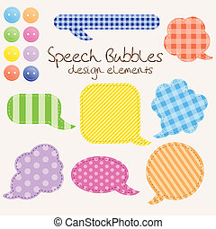 set of different speech bubbles,  design elements