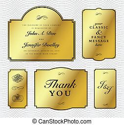 Vector Gold Foil Frame Set