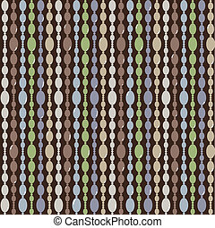 Seamless vector pattern with beads - Seamless vector pattern...