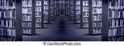 bibliotek, böcker