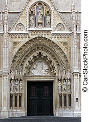 Portal of the Zagreb cathedral - Entrance portal of the...