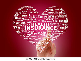 Health insurance - Health insurance concept Tag cloud
