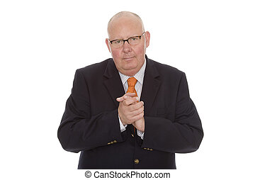 business - isolated businessman with suit and tie