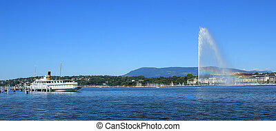 Geneva view on the lake, Switzerland