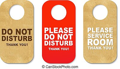 Do Not Disturb Sign Set - 3 Do Not Disturb Sign With...
