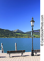 Lake Tegernsee - View over lake Tegernsee at the Bavarian...