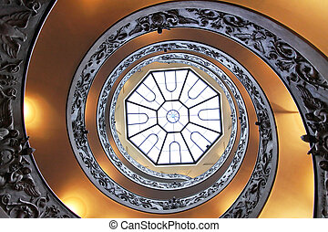 Double helix staircase - Double helix spiral staircase...