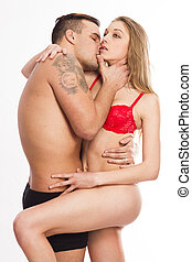 Young passion heterosexual couple - Young passionate...