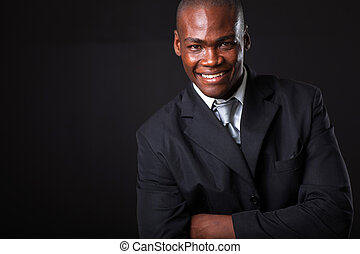 african american businessman - handsome african american...