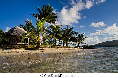 island architecture - a view at the island huts of an island...