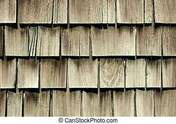 Antique Cedar Siding - Antique cedar siding on a vintage...