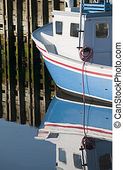 Lobster Boat Reflection - Portion of lobster boat reflection...