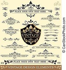 Vintage Design Elements - Vector Set of Vintage Design...