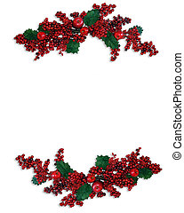 Christmas Holly Berries Borders - Image and illustration...