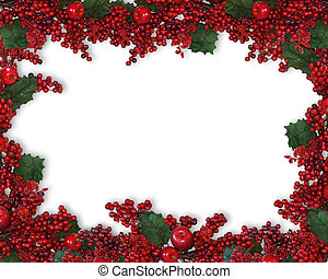 Christmas Holly Berries Border - Image and illustration...