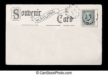 Souvenir Post Card - Antique Souvenir Post Card with...