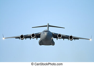 Military Transport - Military transport plane flying...