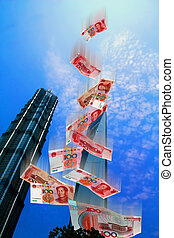 China Market - Illustration of the economic market in China...