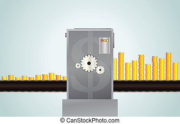 Making More Money - Vector illustration of metaphor of...