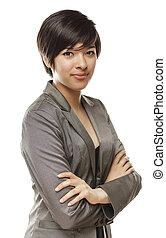 Pretty Young Mixed Race Young Adult Woman Portrait