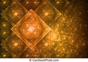 Crystal Formation Abstract - Bright Crystal Glowing...