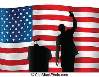 American Politician - American politician at a podium.