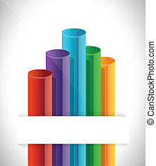 bar graph chart illustration design over a white background