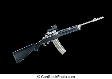 Assault rifle - An assualt rifle with a 30-round magazine...