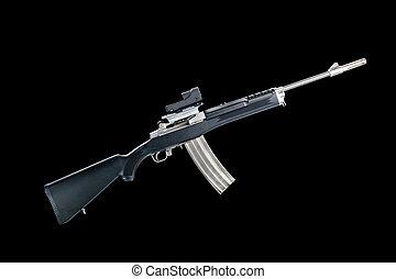 Assault rifle - An assualt rifle with a 30-round magazine...