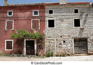 Village in Istria, Croatia - A typical little old village in...