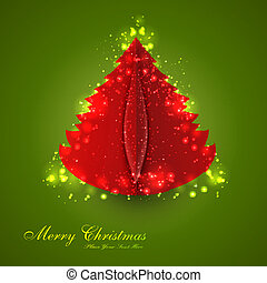 merry christmas tree colorful background
