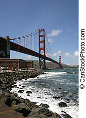 The Golden Gate Bridge - The Golden Gate bridge in San...