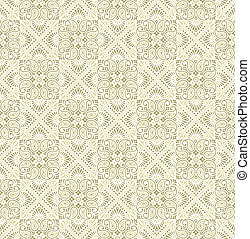 Seamless paisley golden Wallpaper